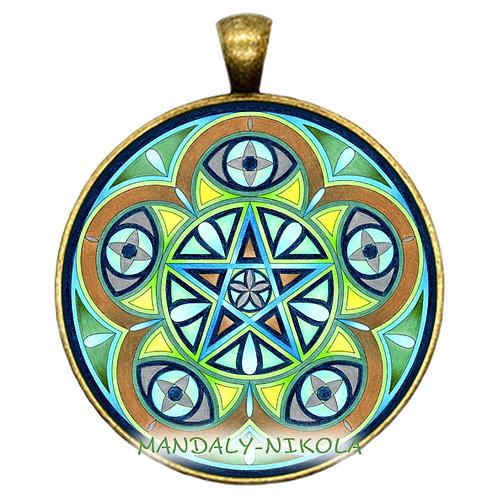 Mandala 2021 - Březen -přívěsek bronz