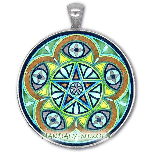 Mandala 2021 - Březen -přívěsek starostříbro