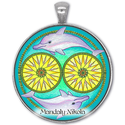 Delfíni z Kréty - přívěsek starostříbro