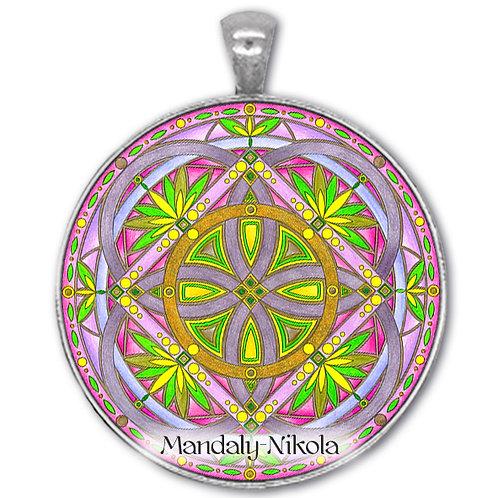 Mandala 2020 - Duben - přívěsek starostříbro