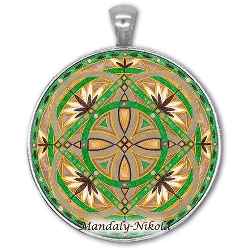 Mandala 2020 - Prosinec - přívěsek starostříbro