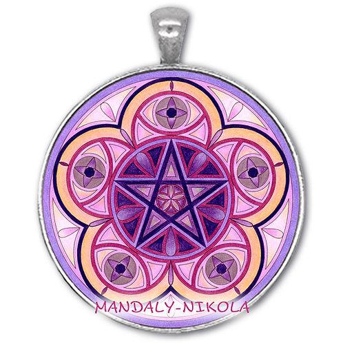 Mandala 2021 - Únor -přívěsek starostříbro