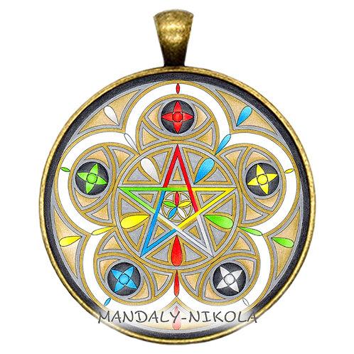 Mandala 2021 - Leden -přívěsek bronz