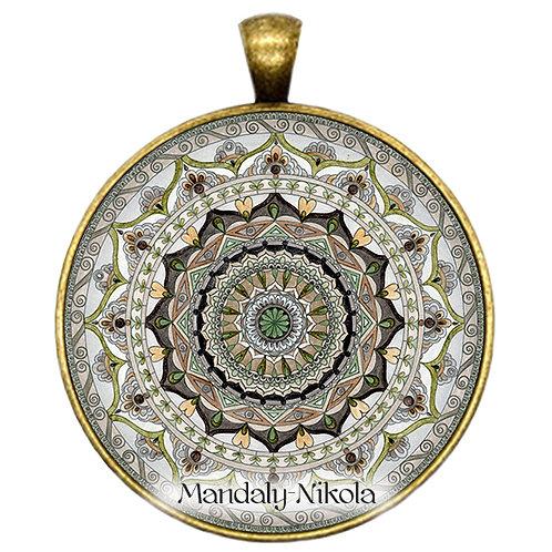 Mandala 2019 - Listopad - přívěsek bronz