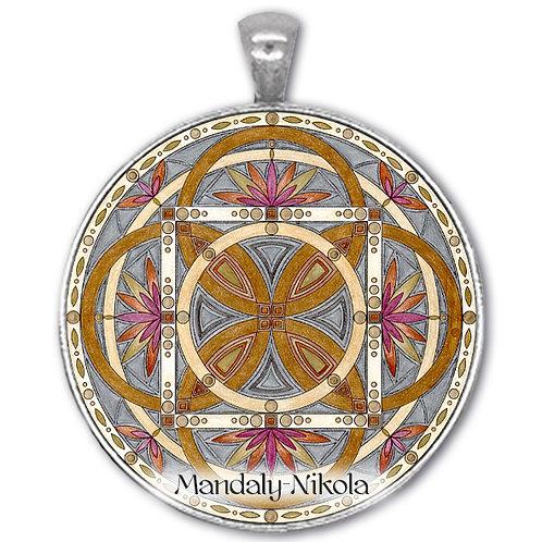 Mandala 2020 - Leden -přívěsek starostříbro
