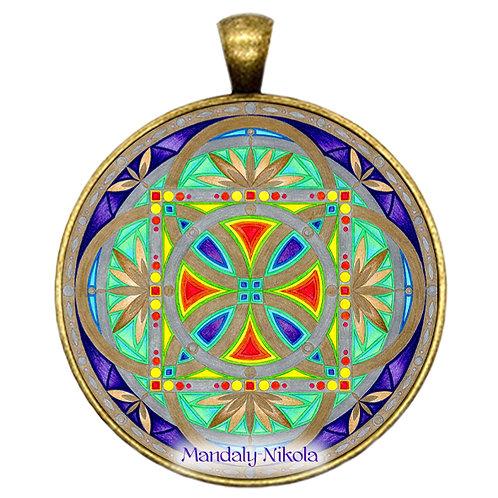 Mandala 2020 - Říjen - přívěsek bronz