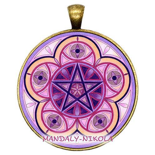 Mandala 2021 - Únor -přívěsek bronz