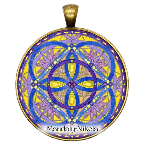 Mandala 2020 - Únor - přívěsek bronz