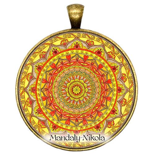 Mandala 2019 - Srpen - přívěsek bronz