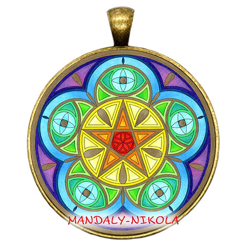 Mandala 2021 - Červen - přívěsek bronz