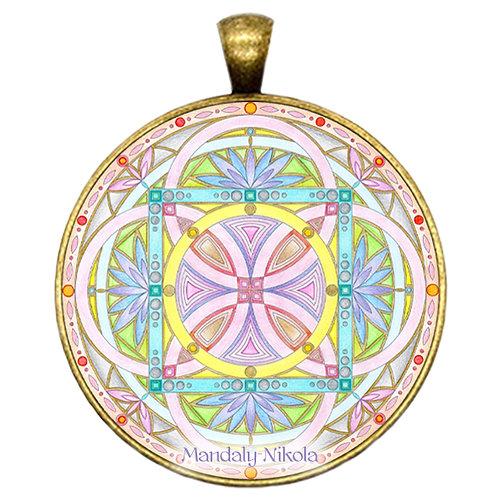 Mandala 2020 - Září - přívěsek bronz