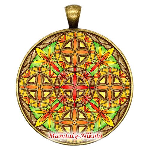 Velikonoční mandala 2020 - přívěsek bronz