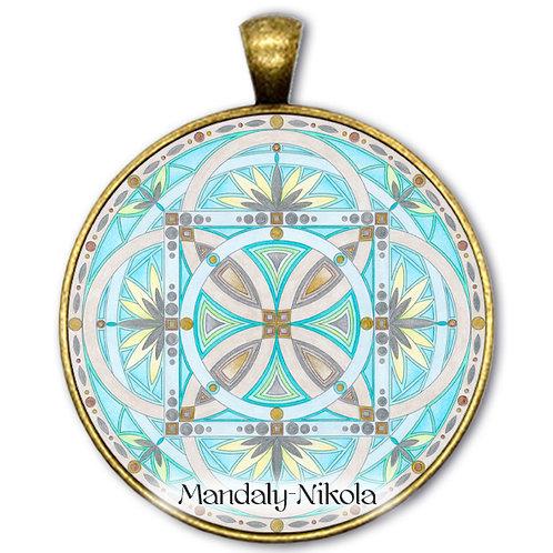 Mandala 2020 - Březen - přívěsek bronz