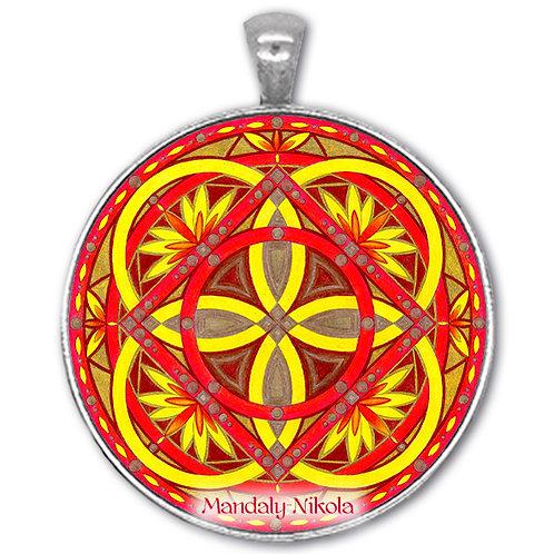 Mandala 2020 - Srpen - přívěsek starostříbro