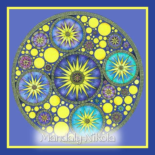 Hvězdné galaktické mandalové nebe I