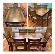 Rectangle Dining Table w_ Slat Black Cha