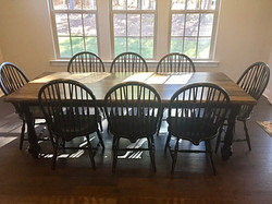 White Oak Wood Table Black Stain