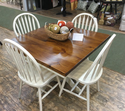 Square Table with Windsor Chairs