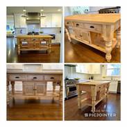 Custom Natural Wood Kitchen Island