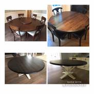 Custom Pedestal Round Tables