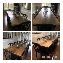 14' Wormy Maple Dining Table