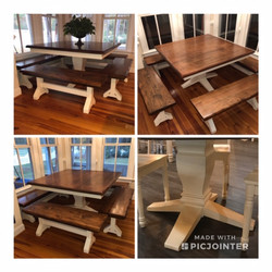 Square Table with 4 benches