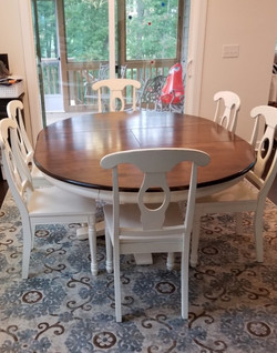 """54"""" Round Foldaway to 72"""" Oval Table"""
