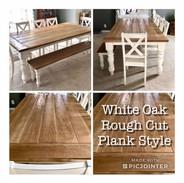 White Oak, Rough Cut Plank Style