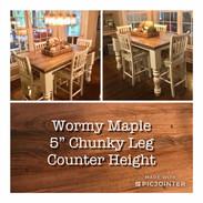 "Counter Height w/5"" Chunky Leg"