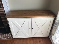 Nook Cabinet with X Panel Doors