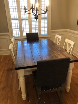 Wormy Maple Plank Style Table