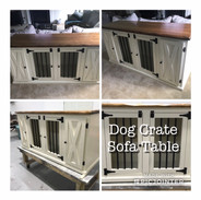 Dog Crate Sofa Table