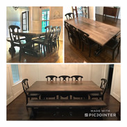 Wormy Maple Rectangle Dining Room Set