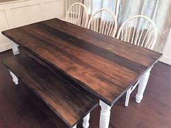 Wormy Maple Plank w/ Ebony Stain