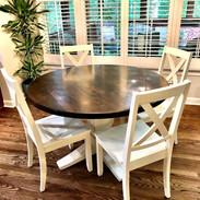4 Seat Round Pedestal Kitchen Table