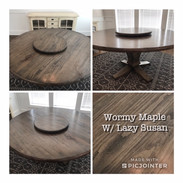 Round Pedestal Table with Lazy Susan