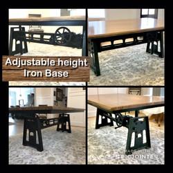 Adjustable Height Iron Base