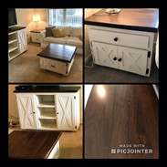 Custom Accent Pieces- Console & Coffee T