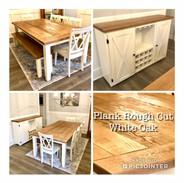 Plank Rough Cut White Oak Table & Matchi