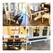 Rectangle Table w/ Custom Bench