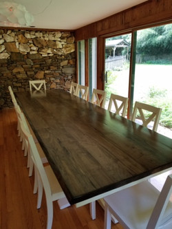 12' Table with X Back Chairs