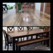 Rectangle Dining Room Table X Back Chair