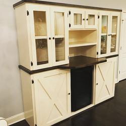 Custom Built Cabinet Bar Wall Unit