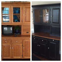 Before and After Kitchen Hutch