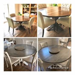Round Kitchen Table with Pedestal Base