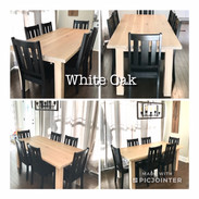 White Oak Table & Ebony Mission Chairs