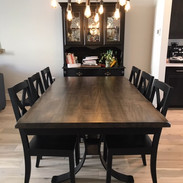 Metal C Base Rectangle Table with Xback