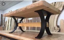 Base Option 5 Contemporary Metal & Wood  Trestle