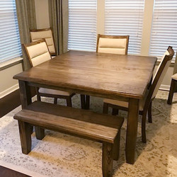 54x54 Square Table