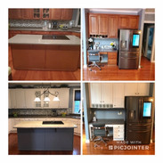 Refinished Kitchen Cabinets and Island